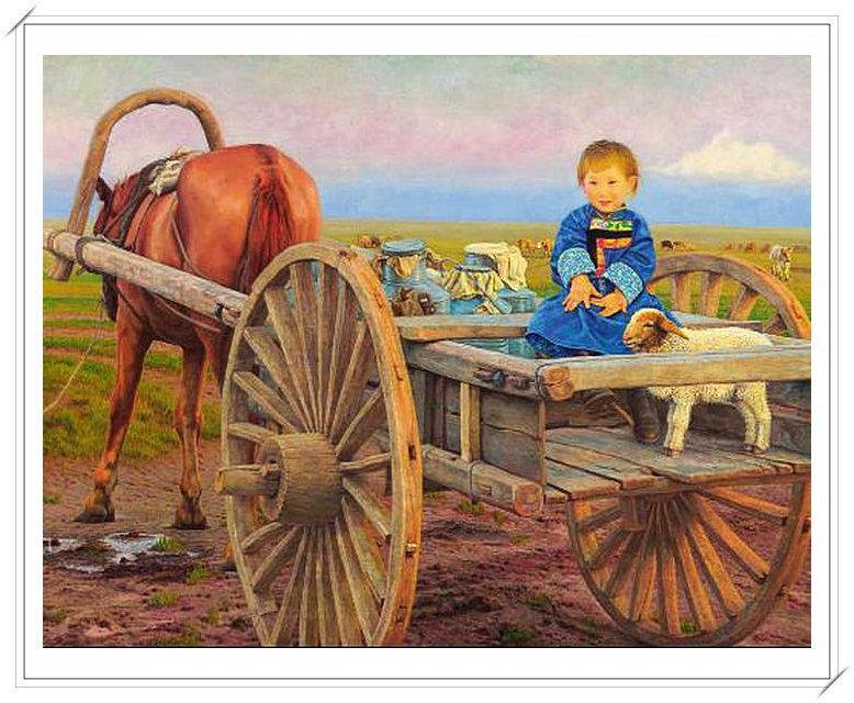 【民族艺术】蒙古风格绘画作品 —— 画笔下的民族风 第26张