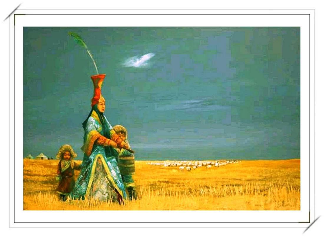 【民族艺术】蒙古风格绘画作品 —— 画笔下的民族风 第28张