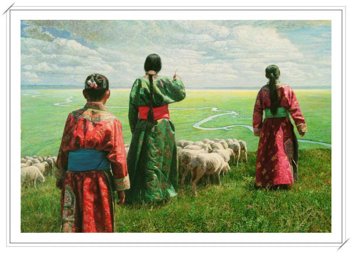 【民族艺术】蒙古风格绘画作品 —— 画笔下的民族风 第29张
