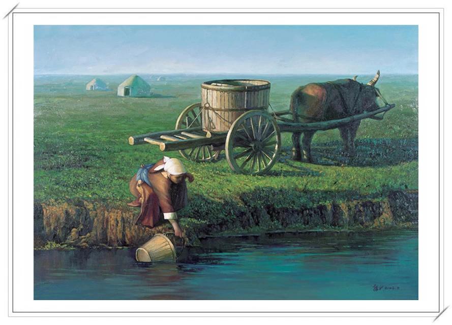 【民族艺术】蒙古风格绘画作品 —— 画笔下的民族风 第30张
