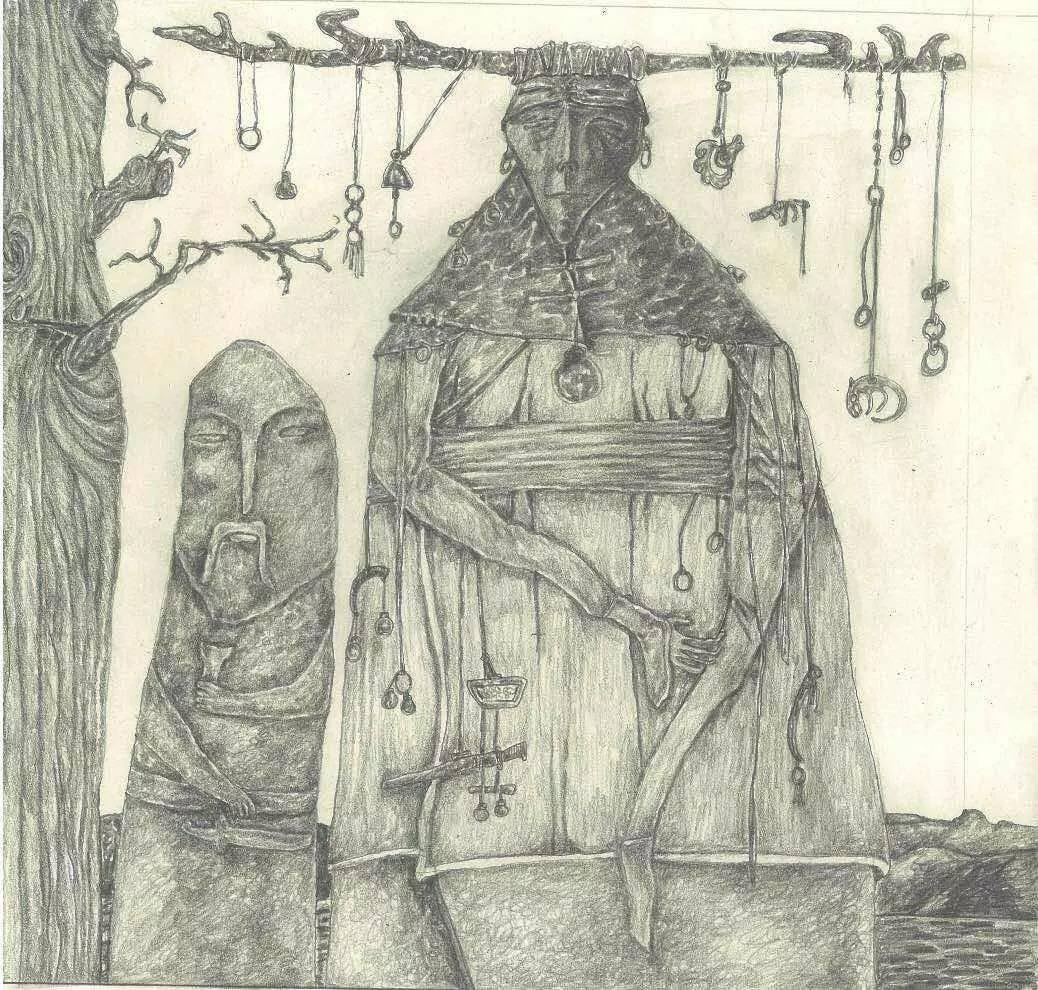 新塔娜绘画作品展播——对神与灵的追寻 第2张