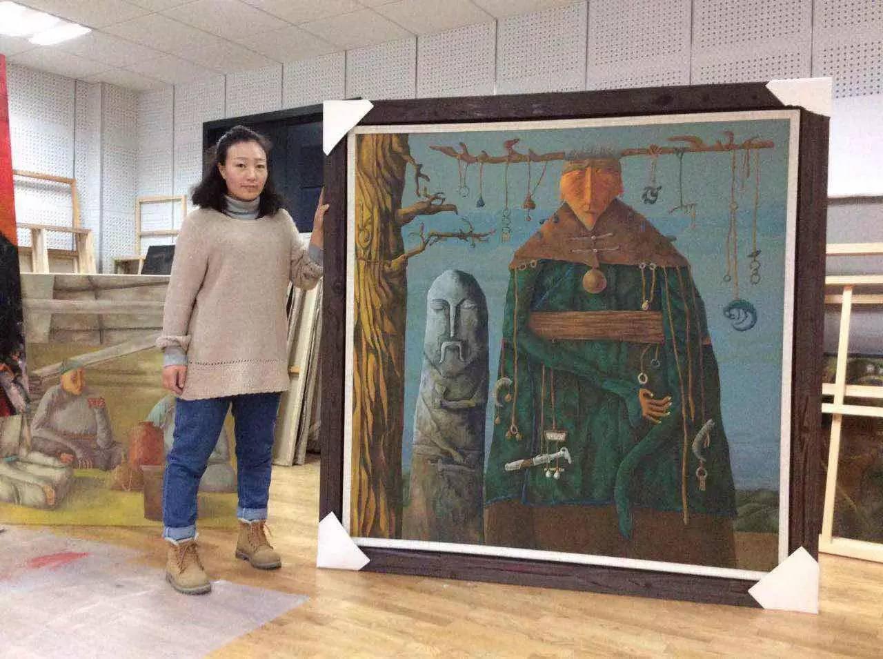 新塔娜绘画作品展播——对神与灵的追寻 第1张