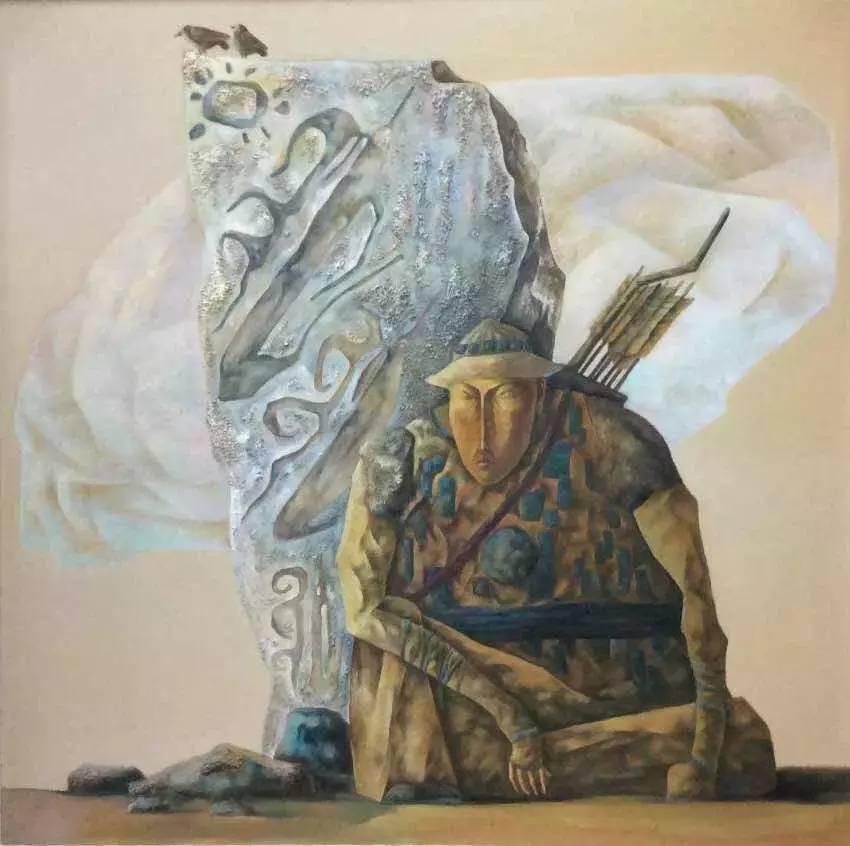 新塔娜绘画作品展播——对神与灵的追寻 第3张