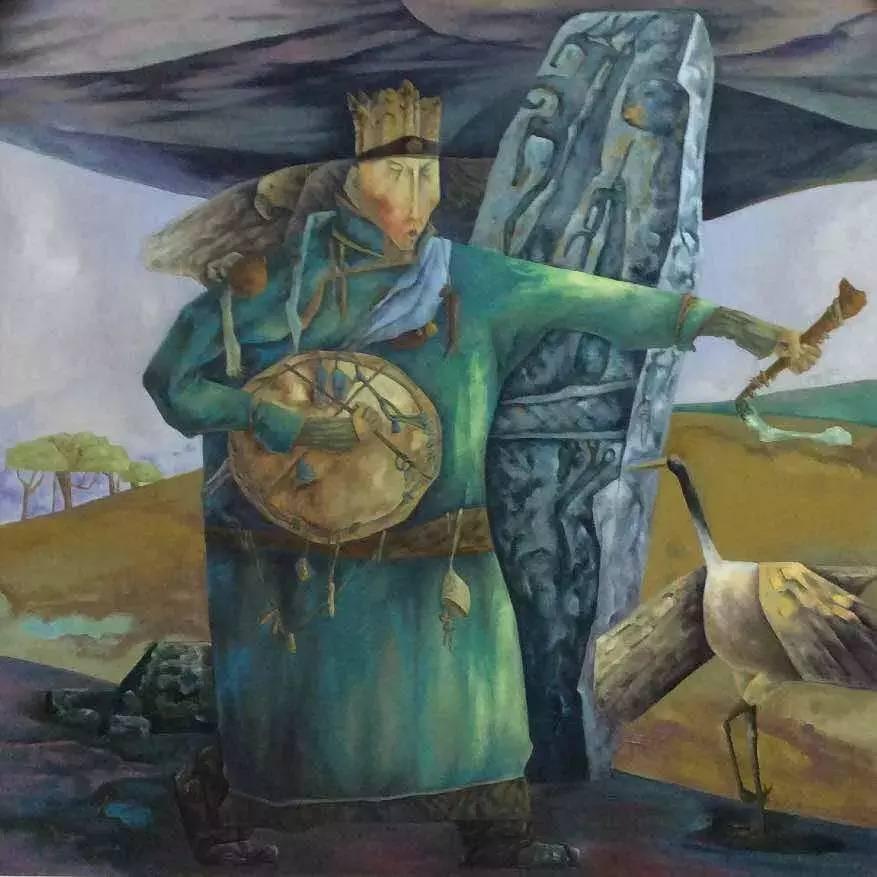 新塔娜绘画作品展播——对神与灵的追寻 第6张