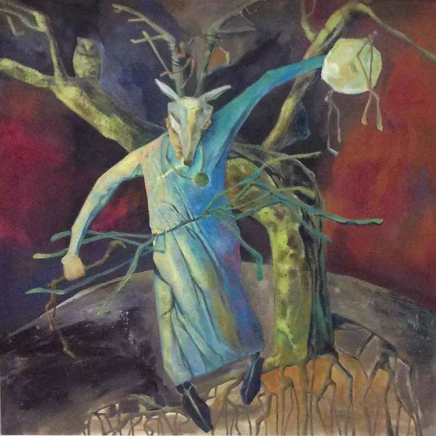 新塔娜绘画作品展播——对神与灵的追寻 第11张