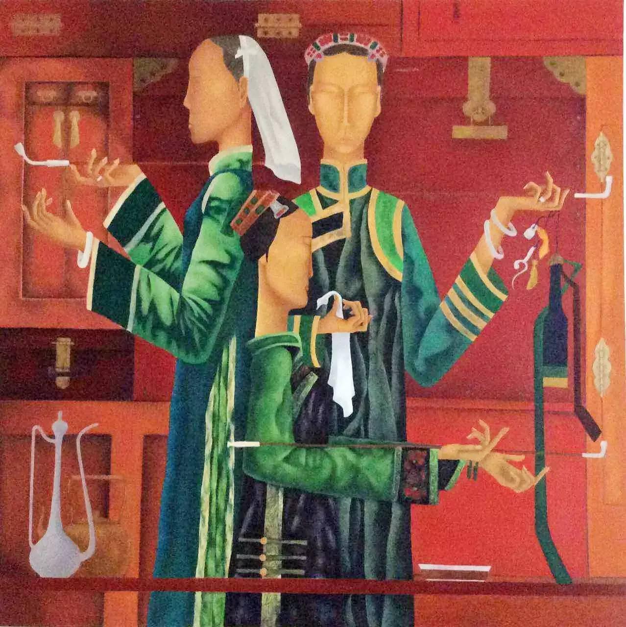 新塔娜绘画作品展播——对神与灵的追寻 第10张
