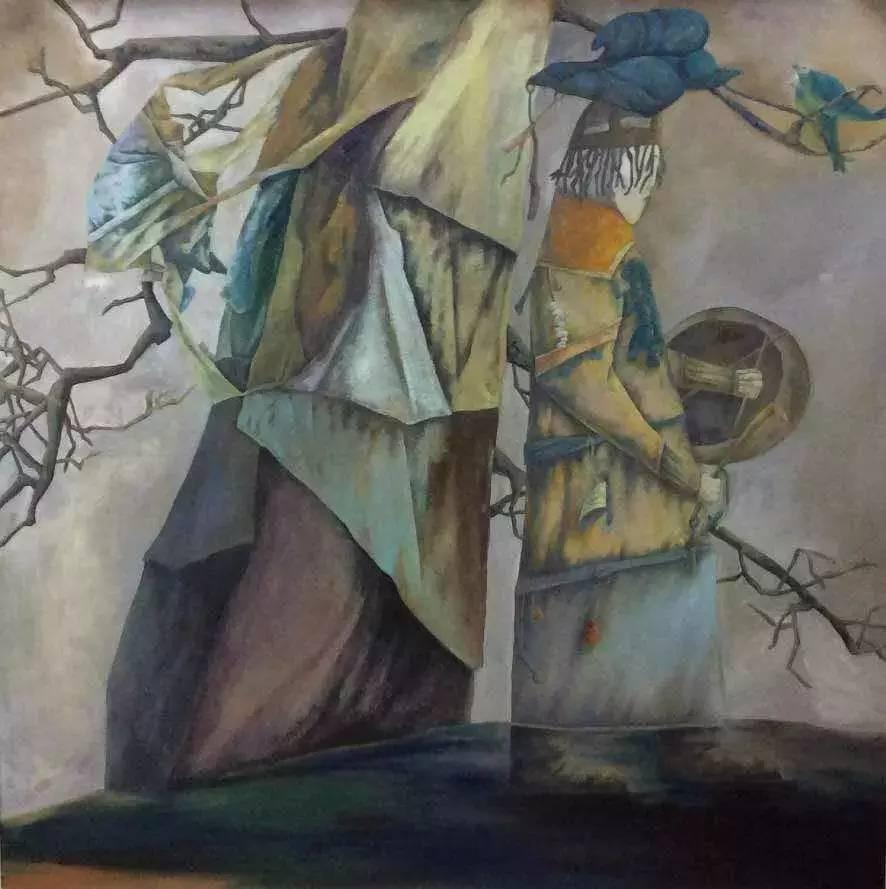 新塔娜绘画作品展播——对神与灵的追寻 第14张