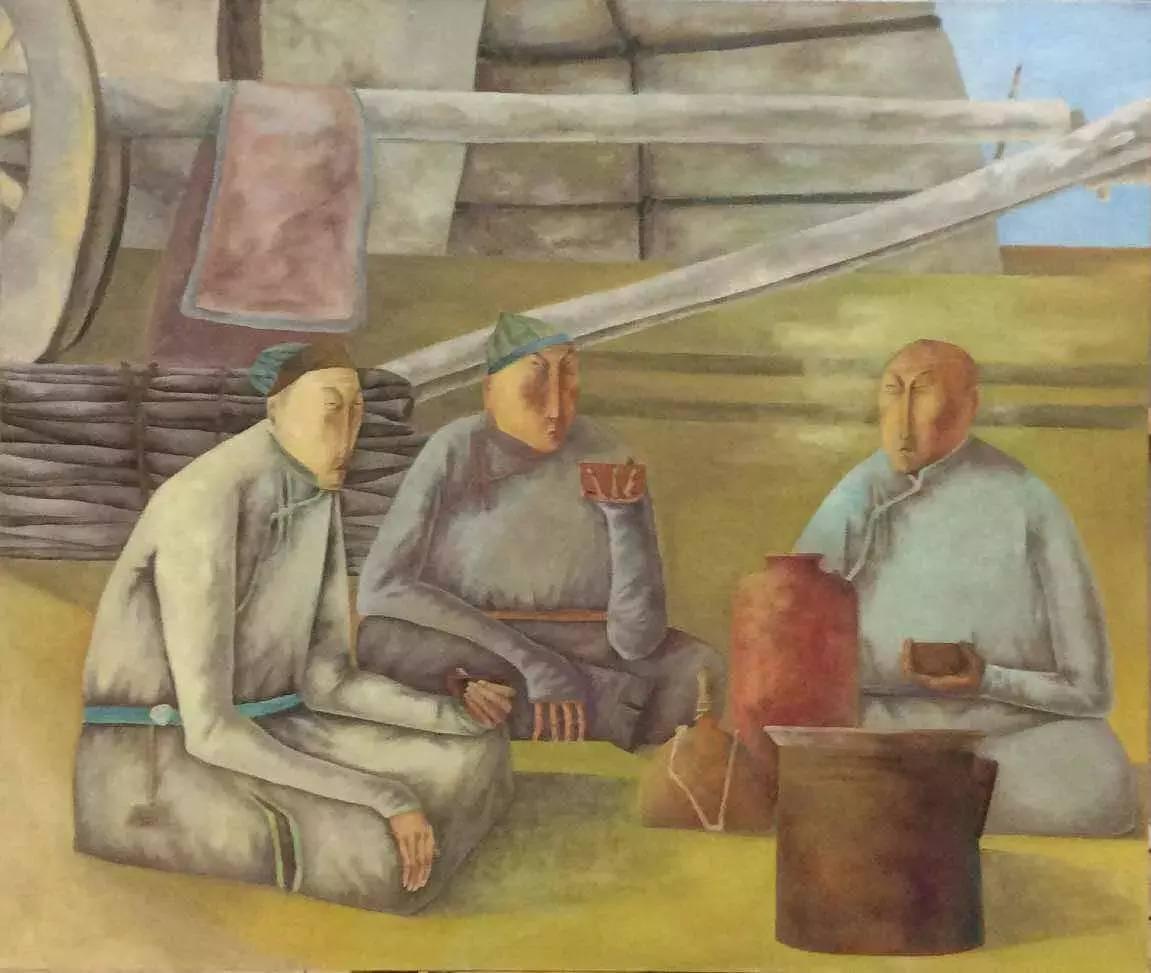 新塔娜绘画作品展播——对神与灵的追寻 第13张