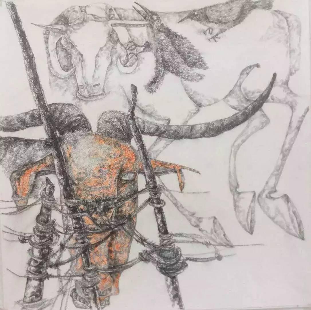 新塔娜绘画作品展播——对神与灵的追寻 第21张