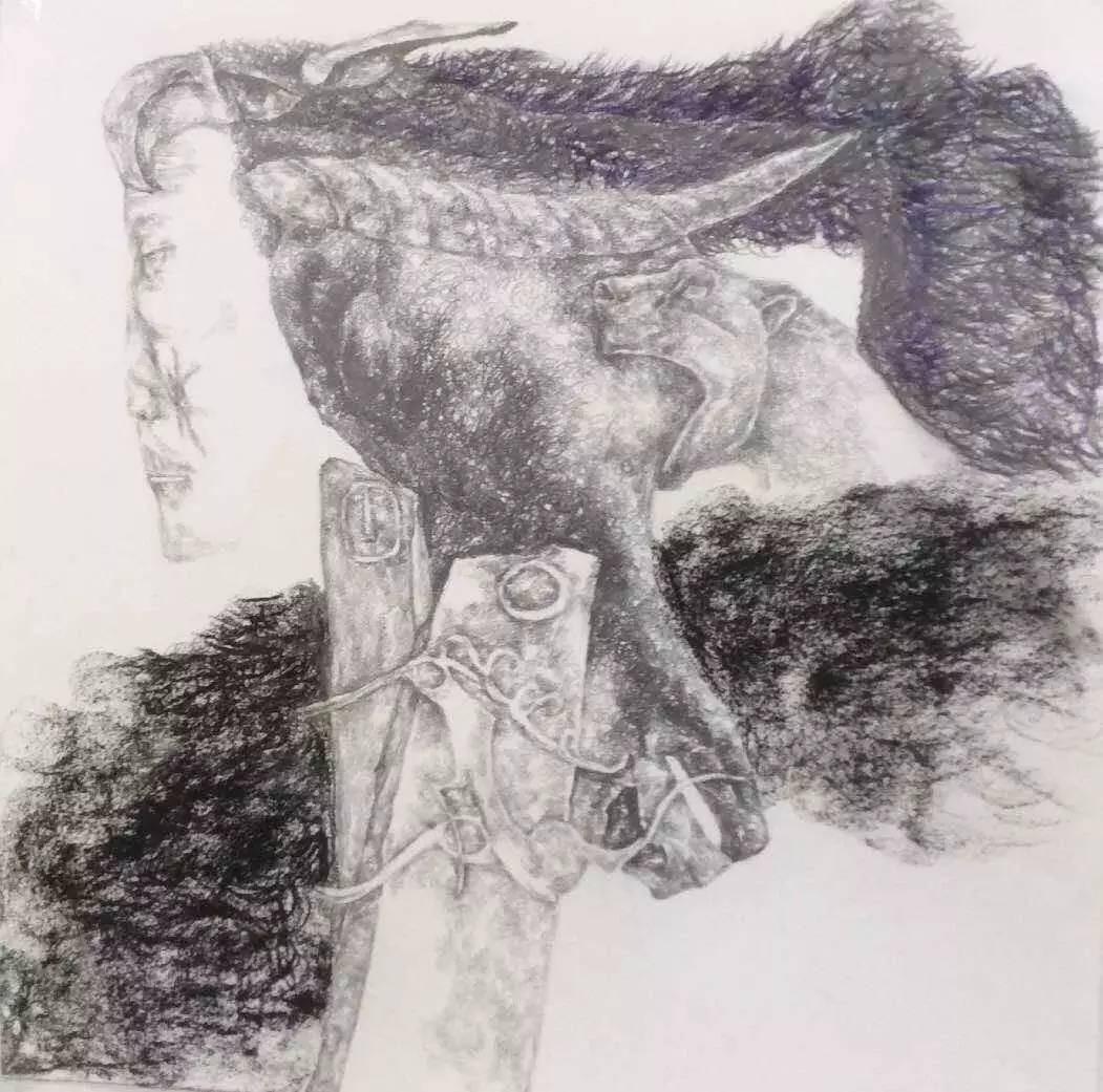 新塔娜绘画作品展播——对神与灵的追寻 第24张
