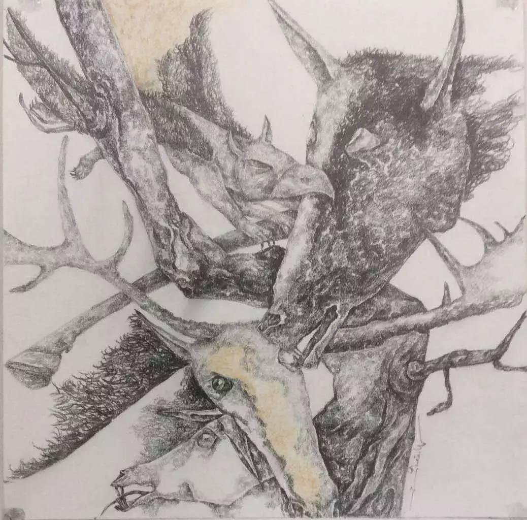 新塔娜绘画作品展播——对神与灵的追寻 第23张