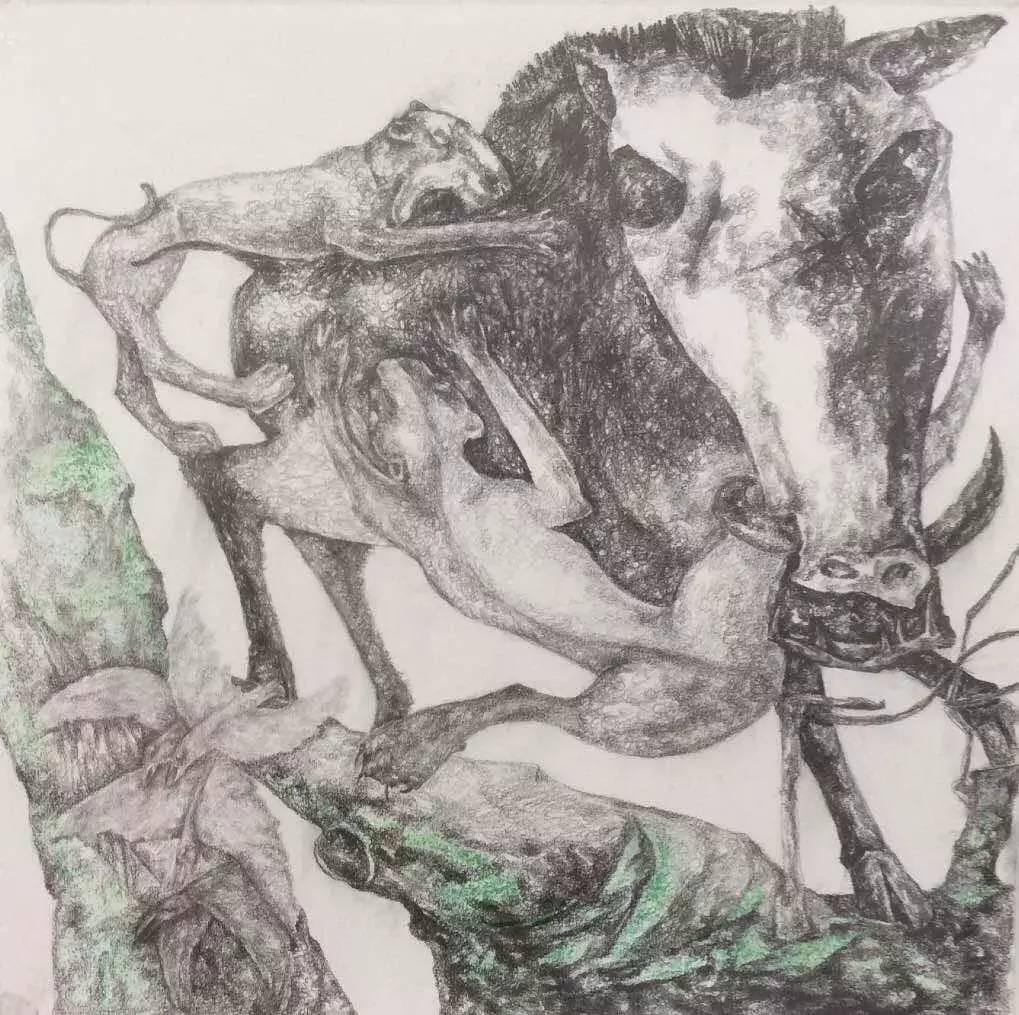 新塔娜绘画作品展播——对神与灵的追寻 第27张
