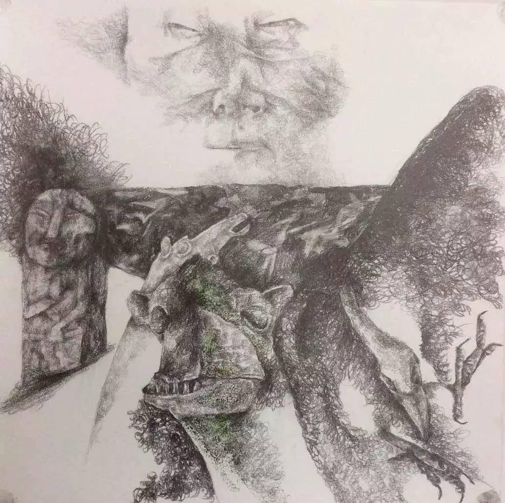 新塔娜绘画作品展播——对神与灵的追寻 第28张