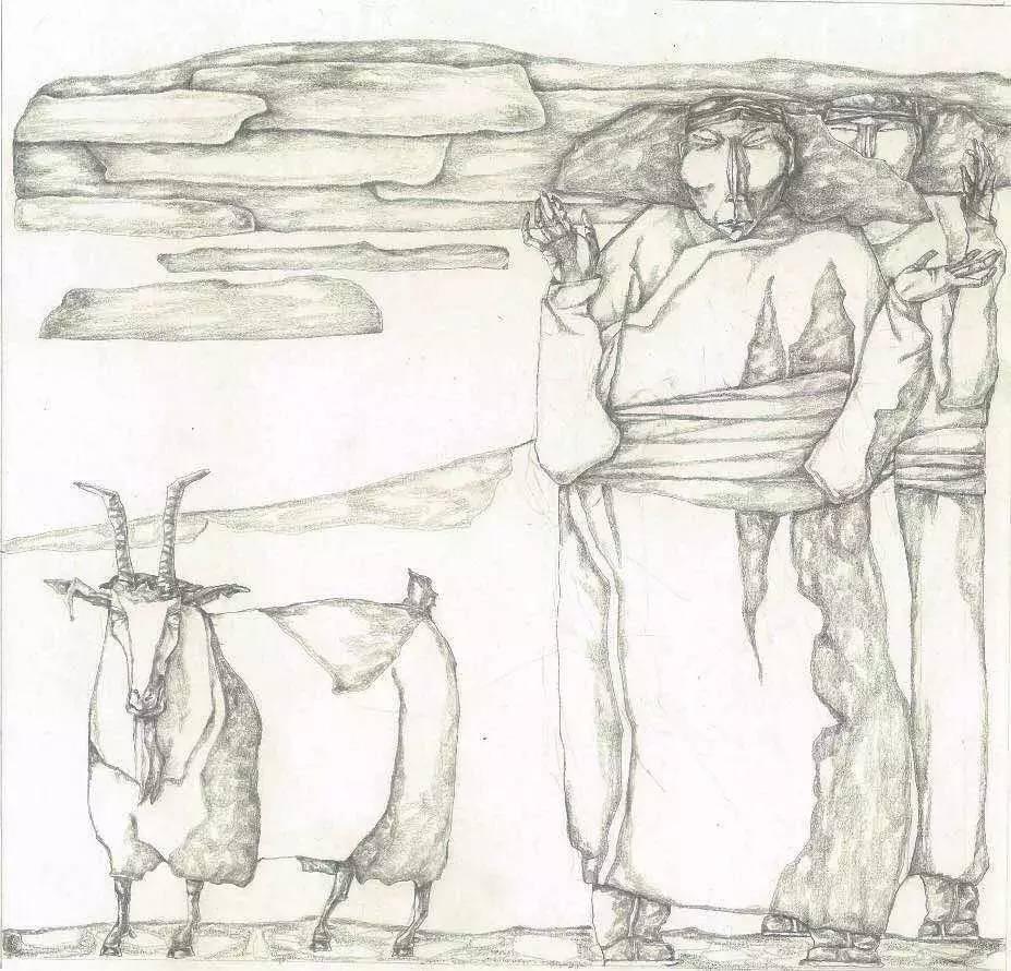新塔娜绘画作品展播——对神与灵的追寻 第30张