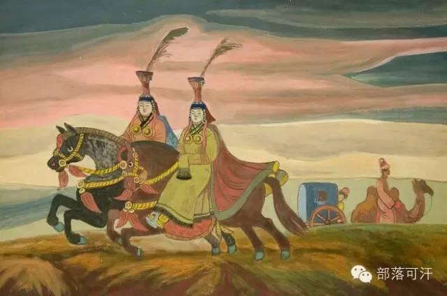 【经典】蒙古国上世纪绘画作品,那时的人那时的风景~ 第2张