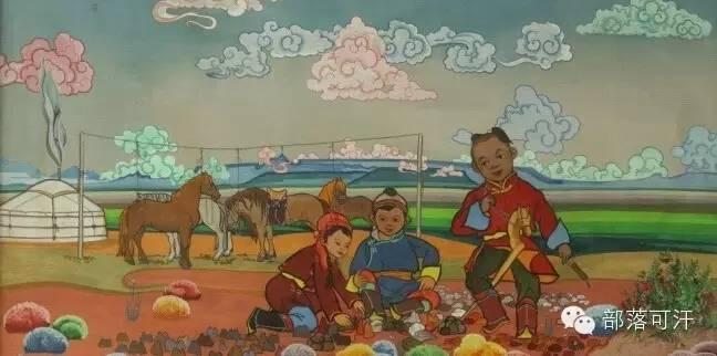 【经典】蒙古国上世纪绘画作品,那时的人那时的风景~ 第7张