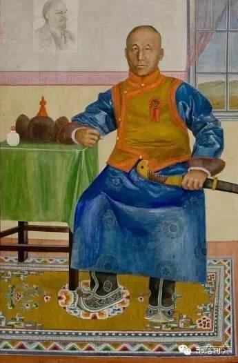 【经典】蒙古国上世纪绘画作品,那时的人那时的风景~ 第9张