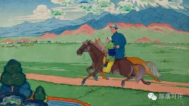 【经典】蒙古国上世纪绘画作品,那时的人那时的风景~ 第8张