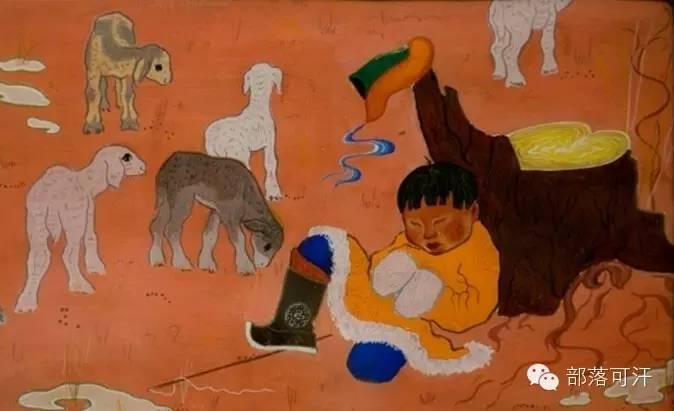 【经典】蒙古国上世纪绘画作品,那时的人那时的风景~ 第14张