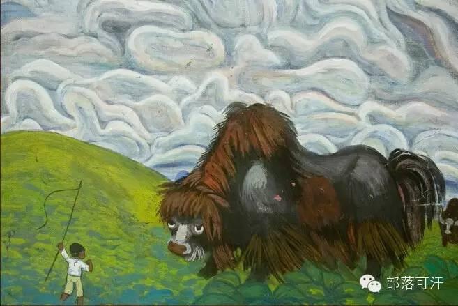 【经典】蒙古国上世纪绘画作品,那时的人那时的风景~ 第11张