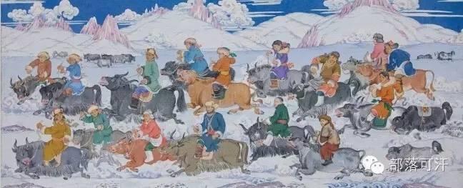 【经典】蒙古国上世纪绘画作品,那时的人那时的风景~ 第13张