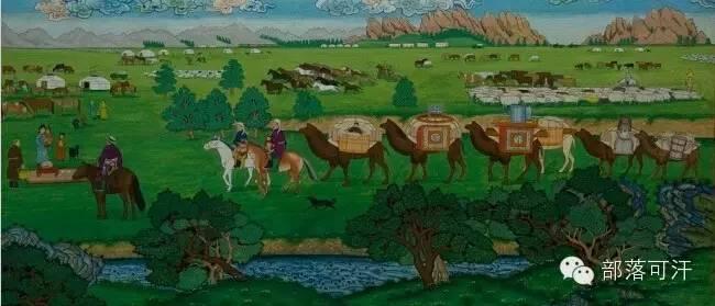 【经典】蒙古国上世纪绘画作品,那时的人那时的风景~ 第22张