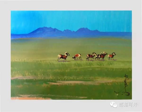 【经典】蒙古国上世纪绘画作品,那时的人那时的风景~ 第25张