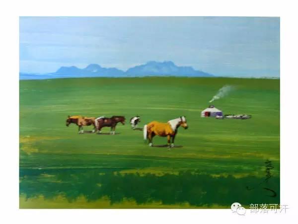 【经典】蒙古国上世纪绘画作品,那时的人那时的风景~ 第28张