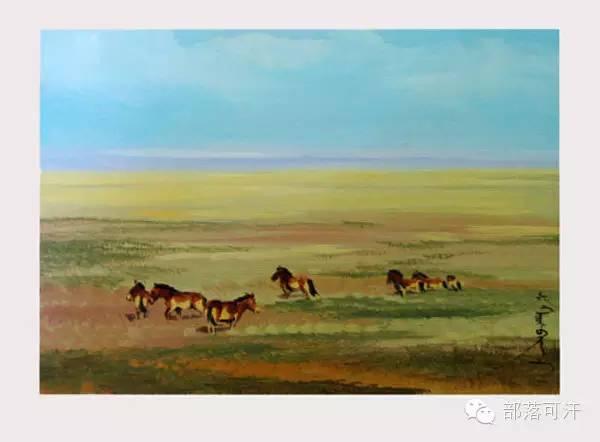 【经典】蒙古国上世纪绘画作品,那时的人那时的风景~ 第27张