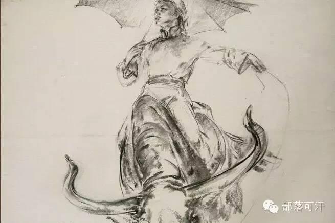 【经典】蒙古国上世纪绘画作品,那时的人那时的风景~ 第31张