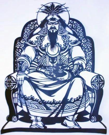 蒙古剪纸画