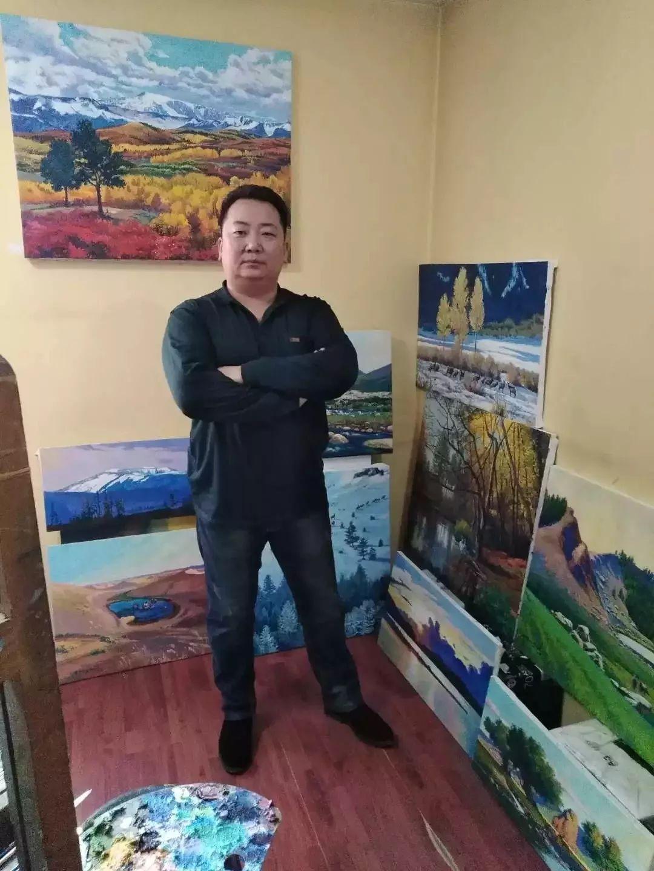 蒙古草原风景 让人向往 蒙古国著名画家D.泰温吉日嘎拉 油画作品