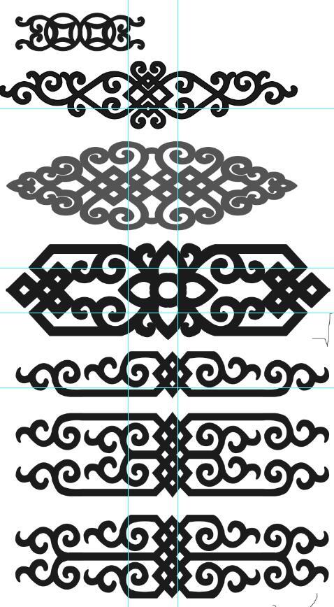 横幅蒙古图案psd格式