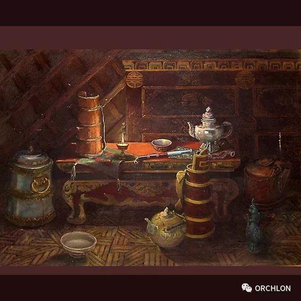 蒙古三位大师作品