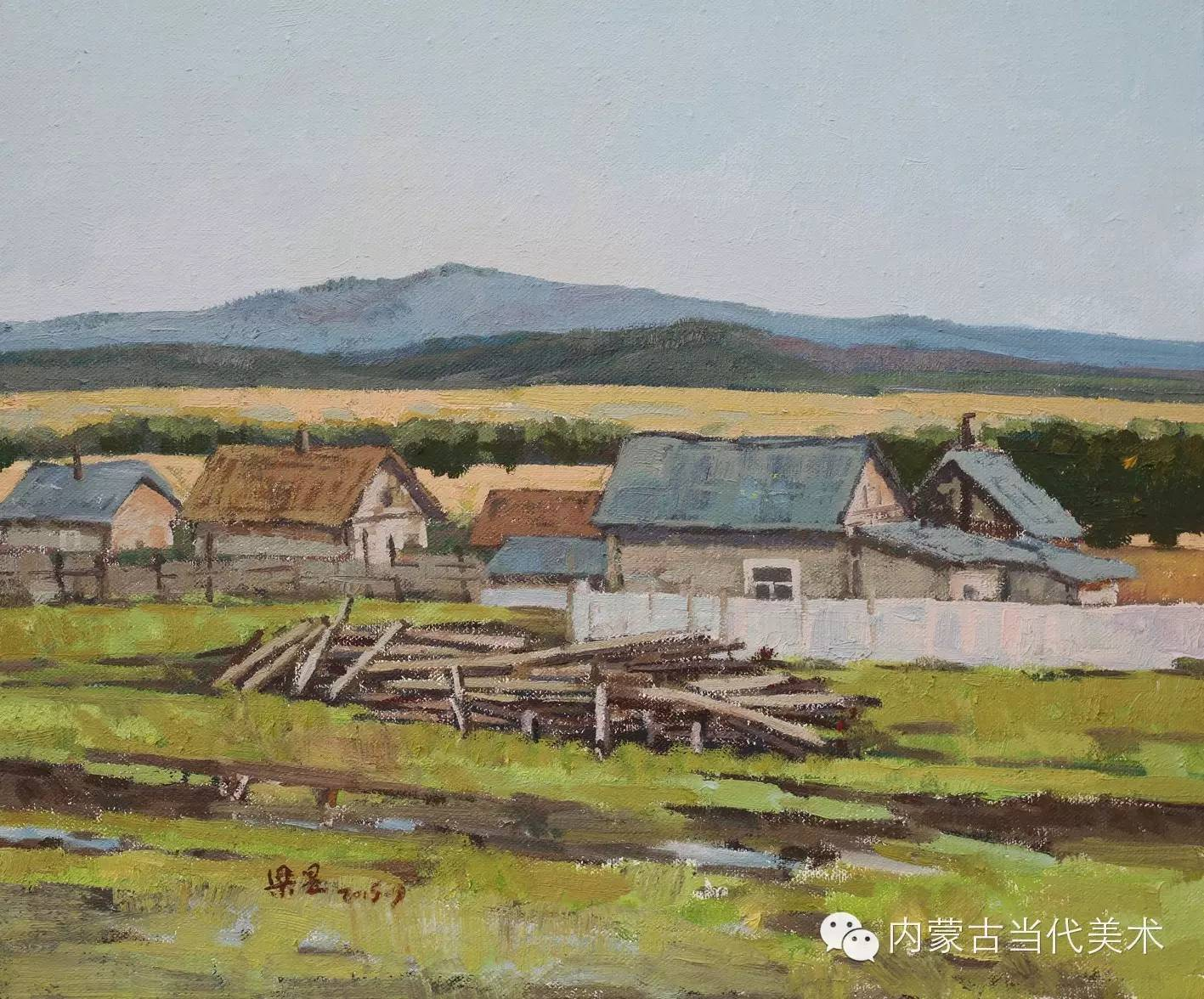 内蒙古当代美术家系列——梁昱风景写生作品