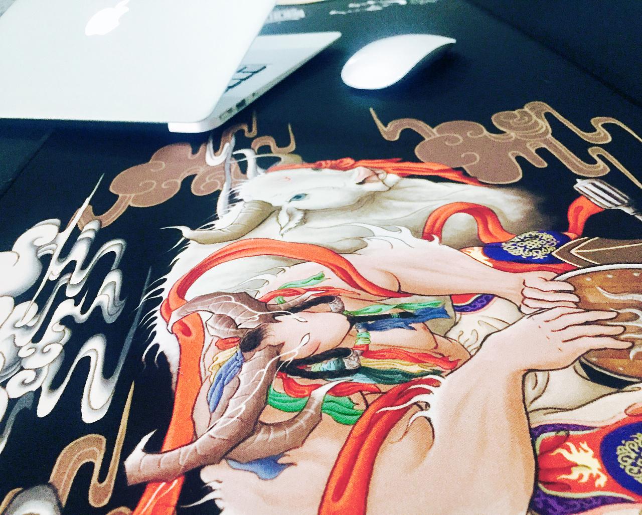 圖門·喜物 大型长卷蒙古族神话故事原创插画-《信仰》