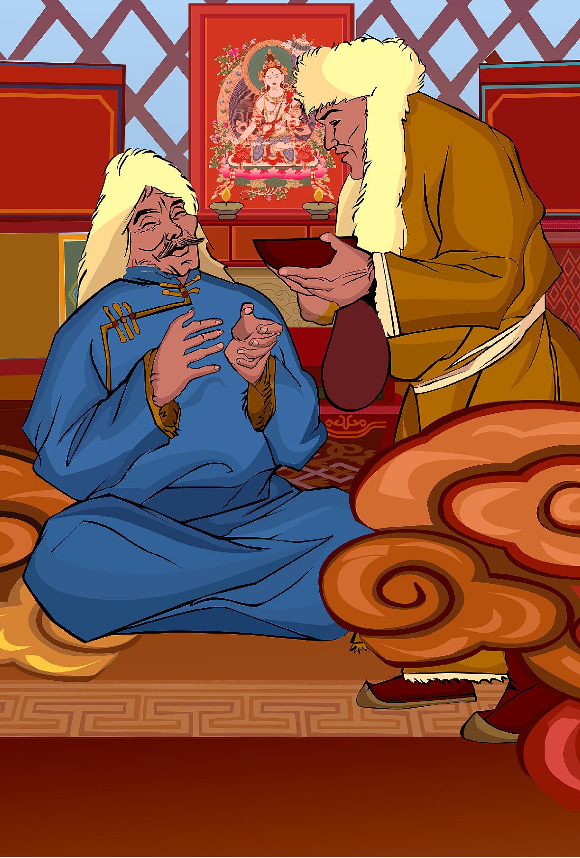 蒙古族小插画 第5张
