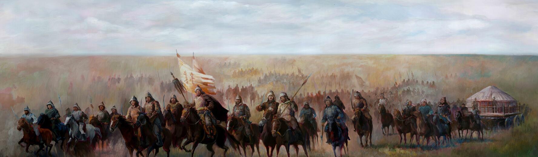 行进中的蒙古铁骑 (高清图)