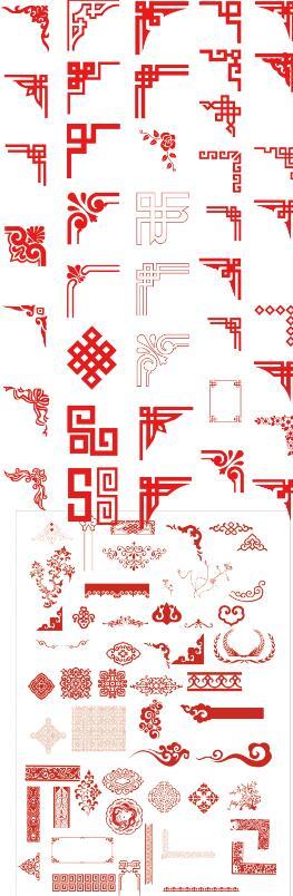 红色传统蒙古边框