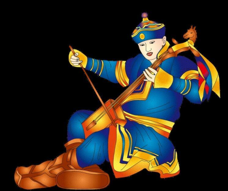 蒙古族少年psd