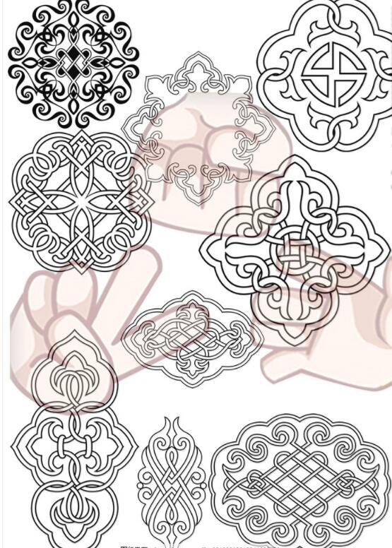 蒙古花纹合集图片4