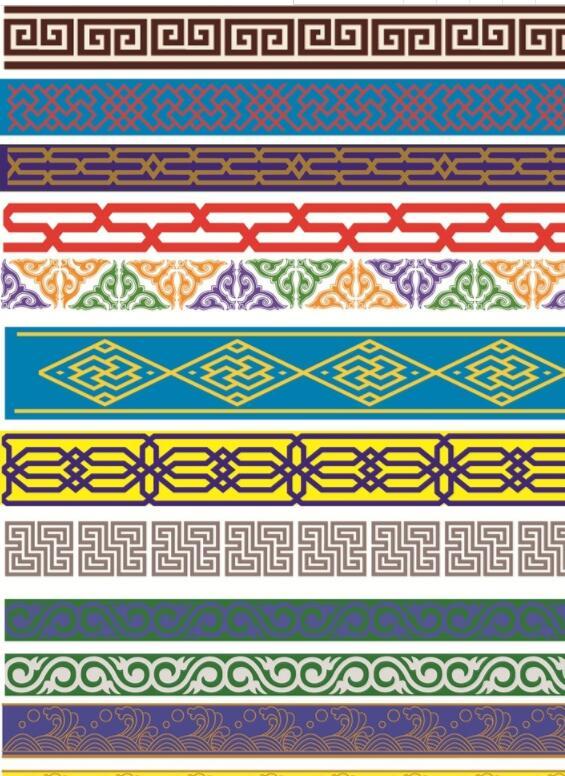 蒙古图案 腰带大全