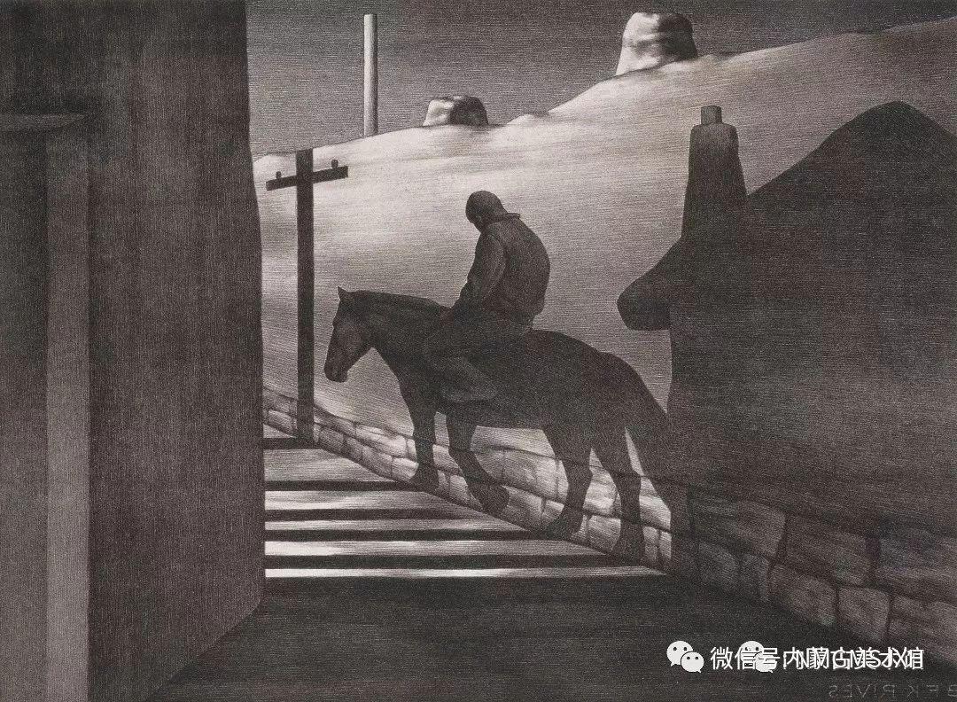 第三届内蒙古版画作品展览 在呼和浩特内蒙古美术馆开幕 第16张