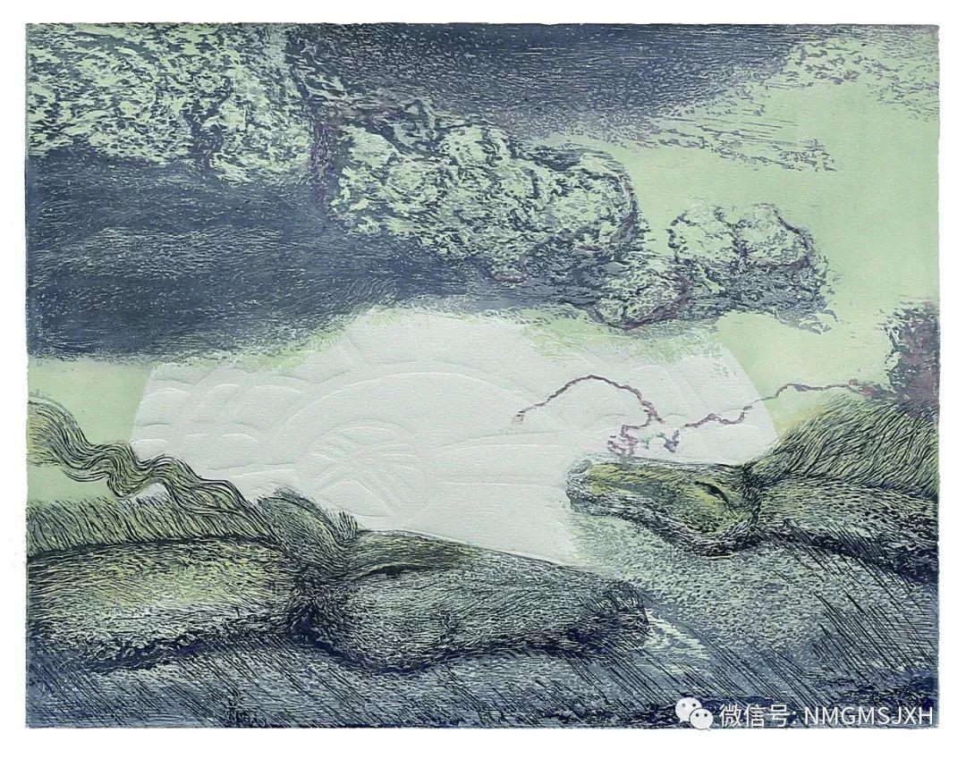 第三届内蒙古版画作品展览 在呼和浩特内蒙古美术馆开幕 第31张
