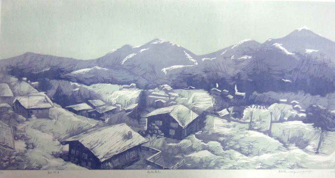 【作品选登】赛罕区美术家协会常灵龄版画作品欣赏 第6张