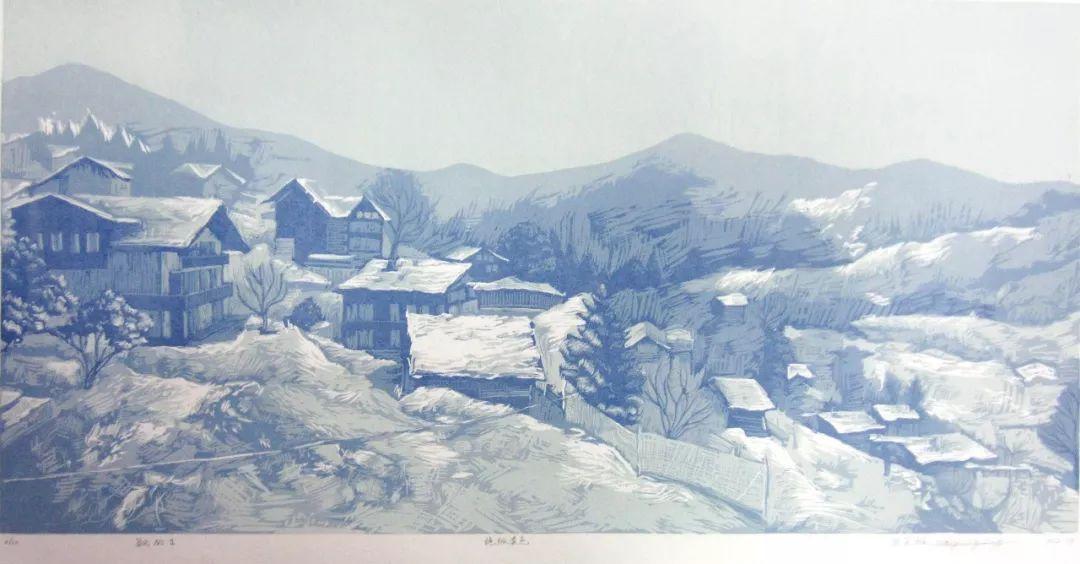 【作品选登】赛罕区美术家协会常灵龄版画作品欣赏 第5张