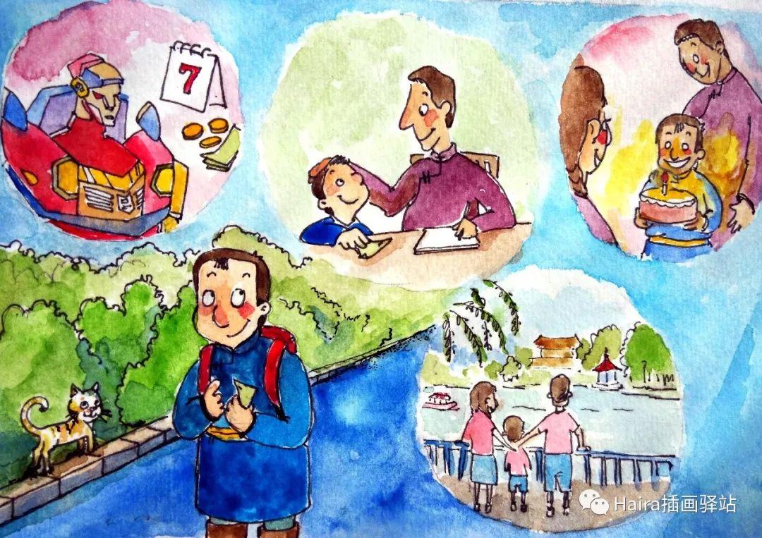 访谈 |蒙古族插画家阿拉坦苏那嘎的创作故事 第5张