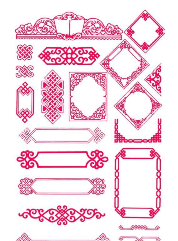 蒙古传统边框素材图片