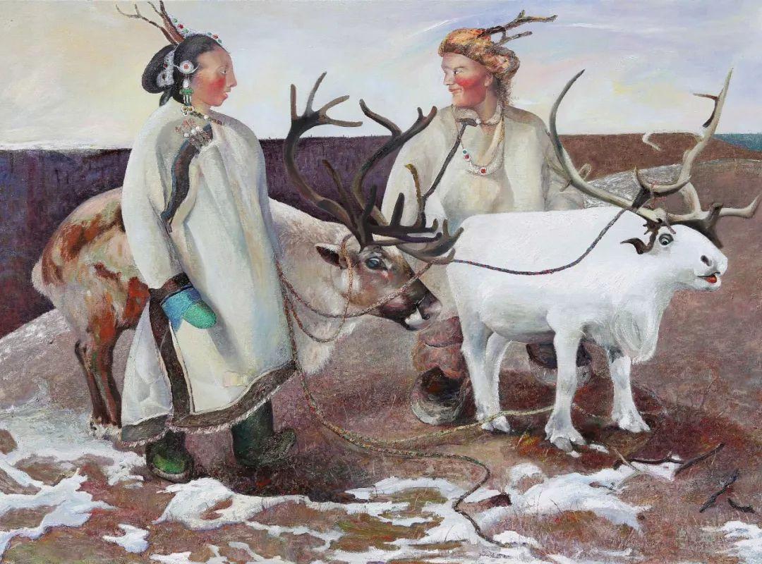 【赏析】心灵深处的绿色草原 ——蒙古族画家乌日娜的油画 第2张