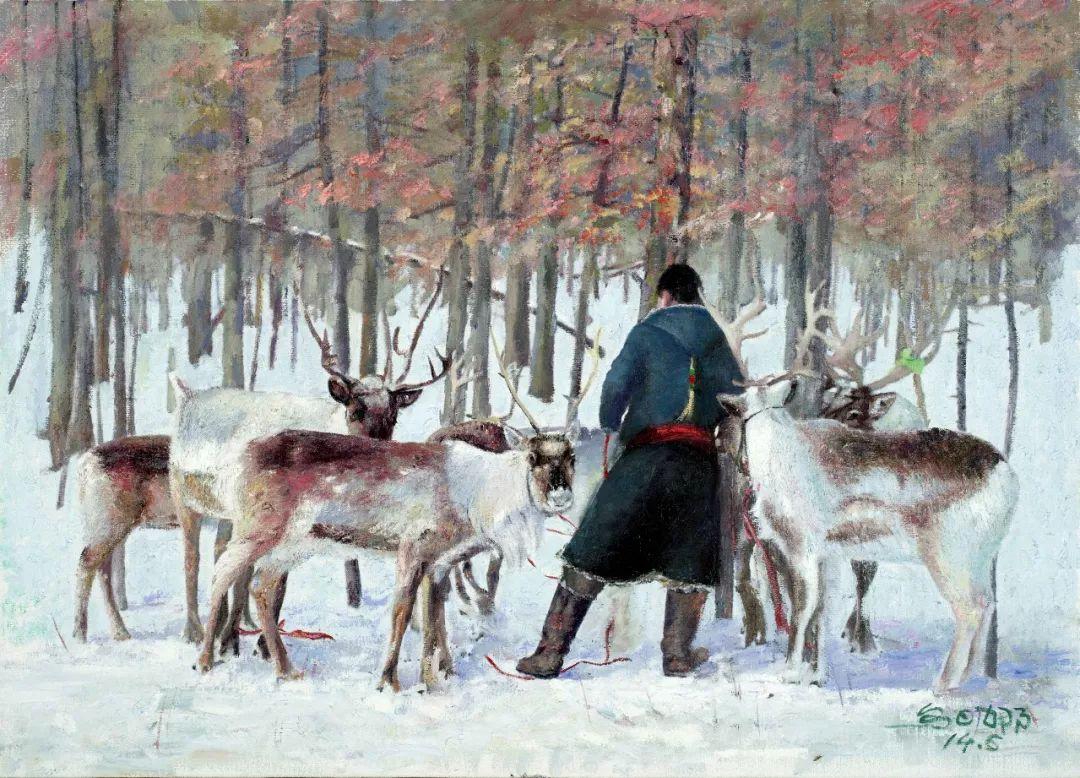 【赏析】心灵深处的绿色草原 ——蒙古族画家乌日娜的油画 第8张